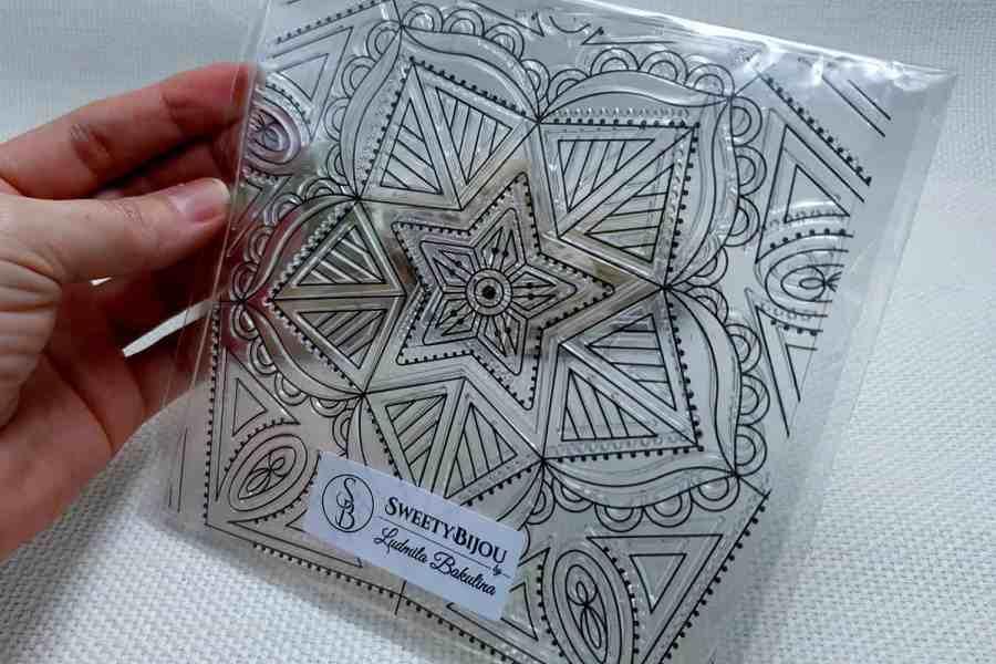 Mandala Star - Clear Silicone Stamp 4