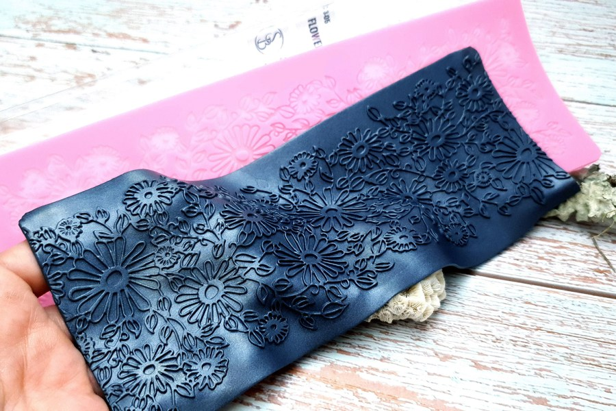 Flowers Field Lace - 90x250mm 7
