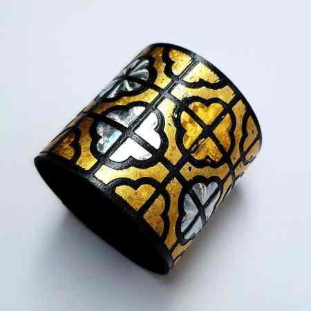 """""""Gold"""" Polymer clay bracelet"""