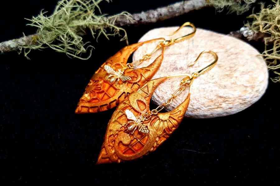 """Earrings """"Eldorado"""" with Bees 4"""