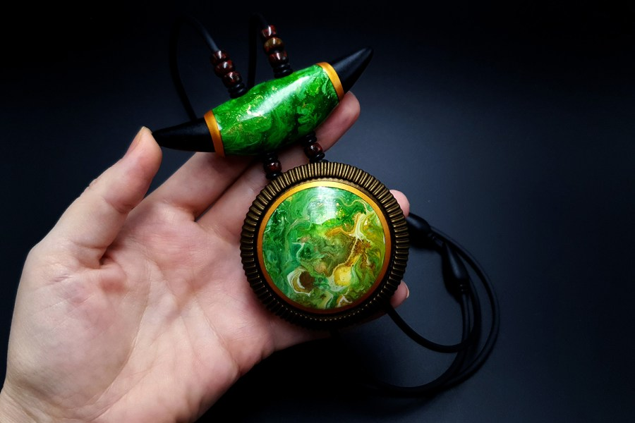 "Long Pendant ""The Magic Forest"" 6"