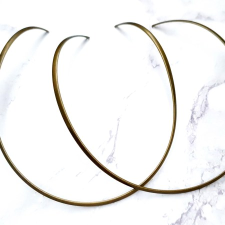 2 Pieces Of Bronze Metal Necklaces For Pendant