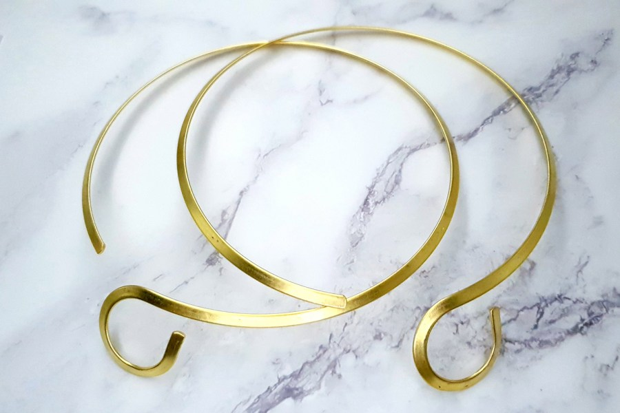 2 Pieces Of Twisted Golden Metal Necklaces For Pendant 7