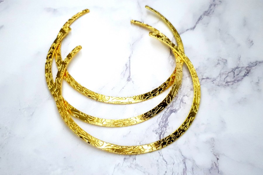3 Pieces Of Golden Metal Necklaces For Pendant 6