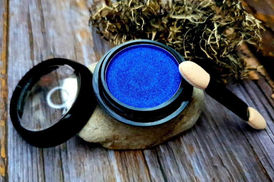 """Solid Pigment Powder """"Winter Sky Blue"""" with Metal and Chrome Effect 1"""