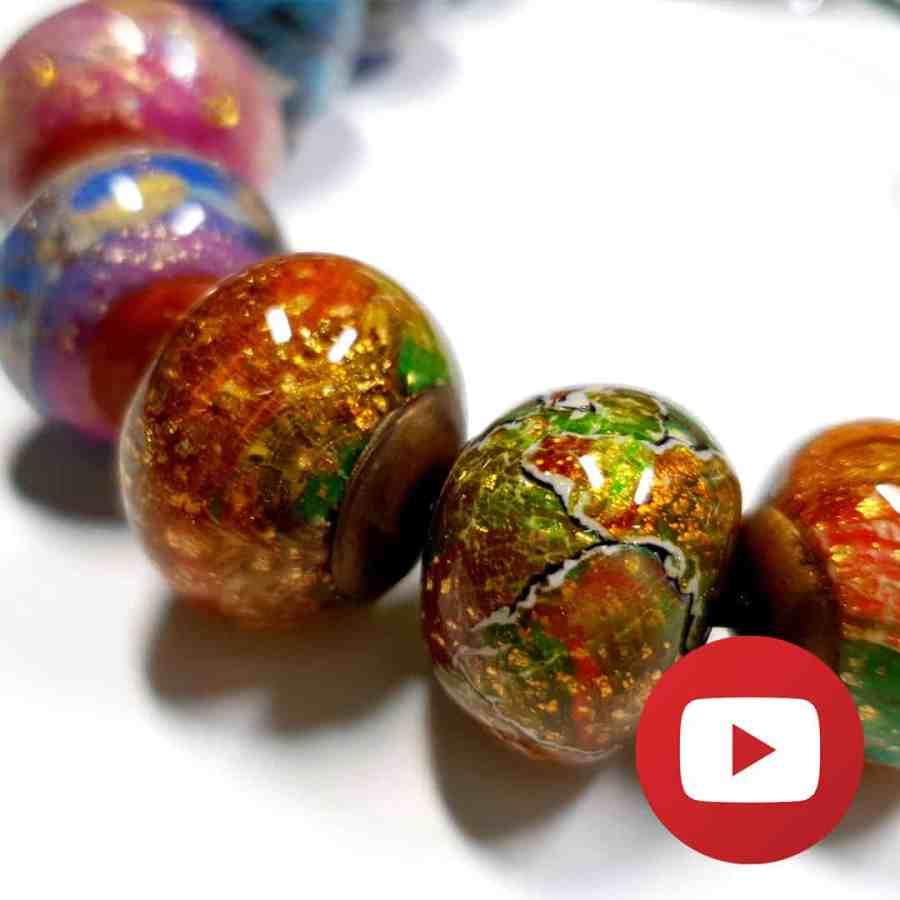 Faux lampwork beads with acrylic paints technique