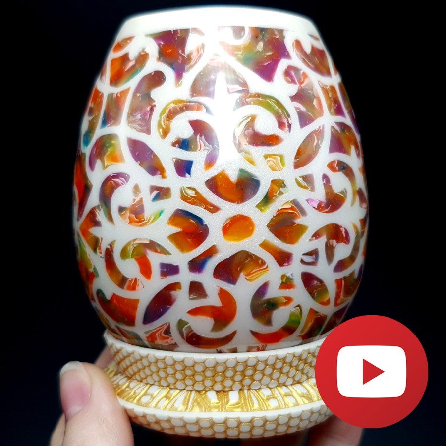 How to make a small translucent vase-candle holder