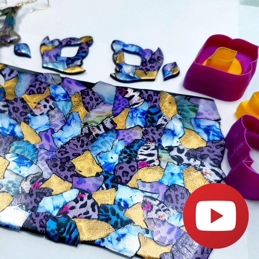 How to make polymer clay colorful veneer