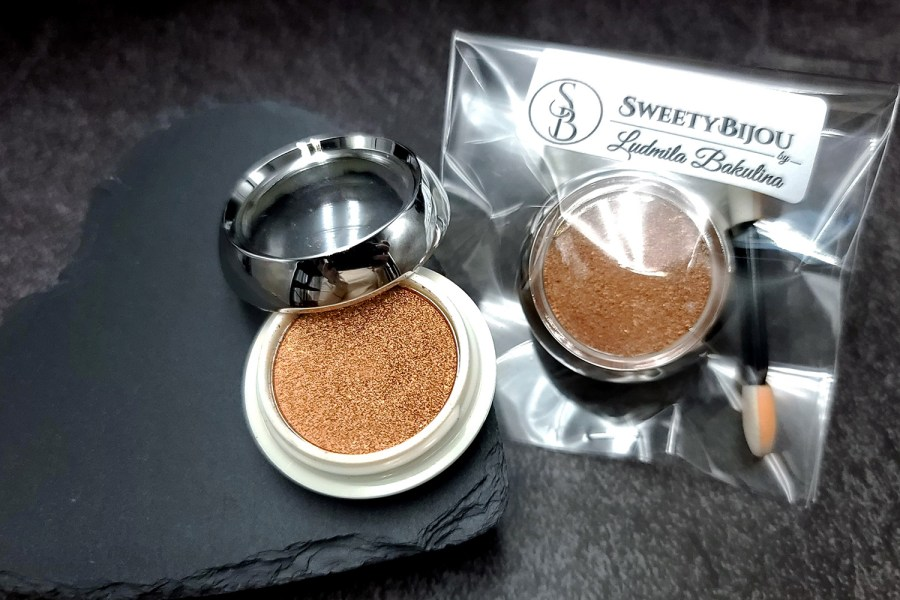 """Solid Powder """"Copper"""" with Metal and Chrome Effect Pigment Powder 3"""
