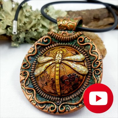 Central part of dragonfly pendant