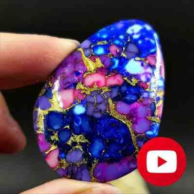 How to make Realistic Purple Turquoise stone imitation