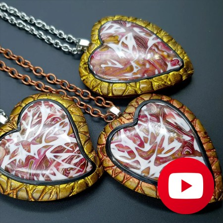 Polymer clay open locket pendant for photo