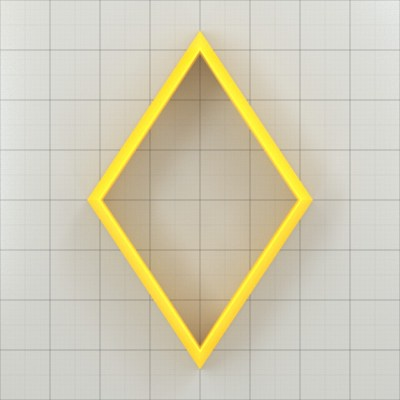 Big set of 11 plastic cutters: DIAMOND 6:4