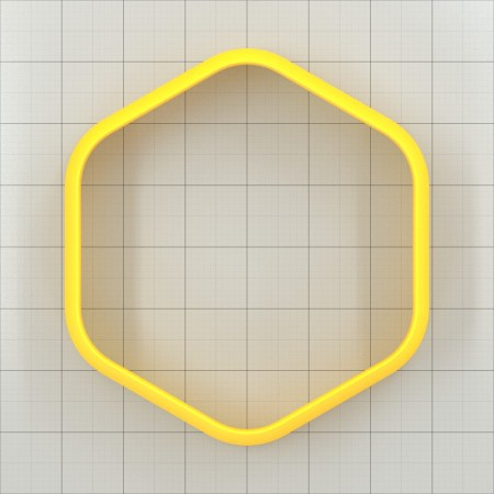 Big set of 11 plastic cutters: ROUNDED HEXAGON