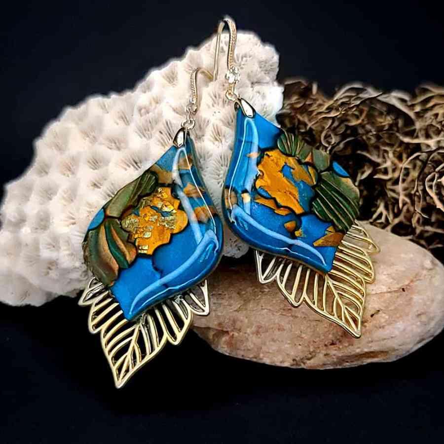 Romantic Earrings - Moroccan Mosaic - 6