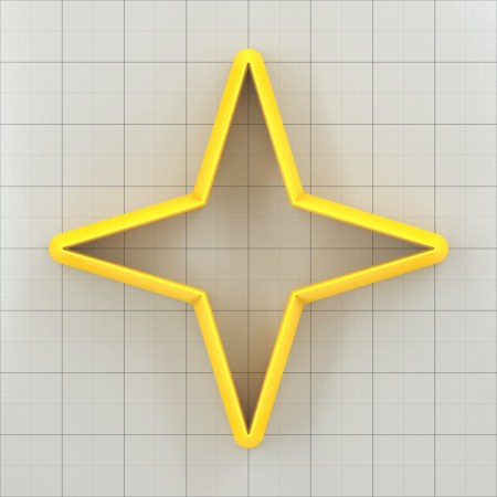 Big set of 11 plastic cutters: 4-POINTED STAR #1