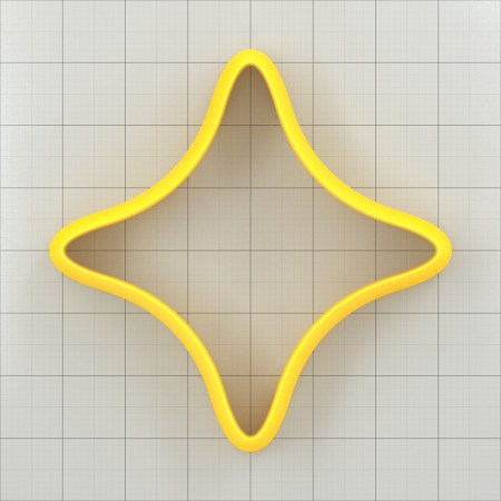 Big set of 11 plastic cutters: 4-POINTED STAR #2