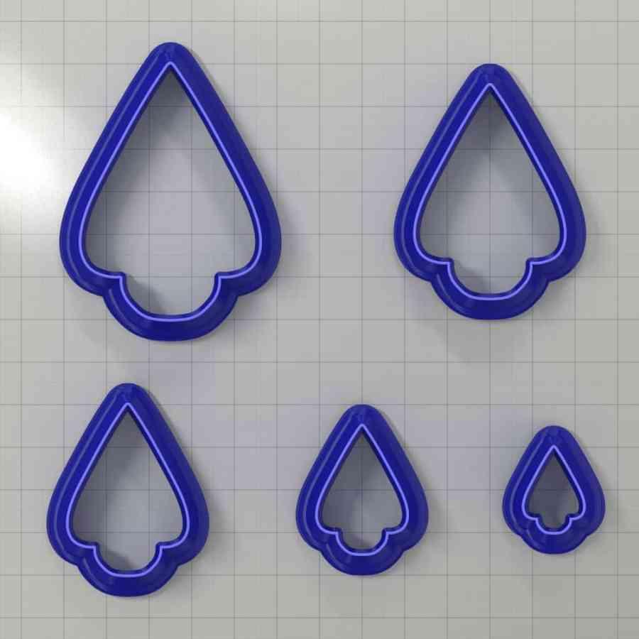 Set of 5 cutters: DROPS#2