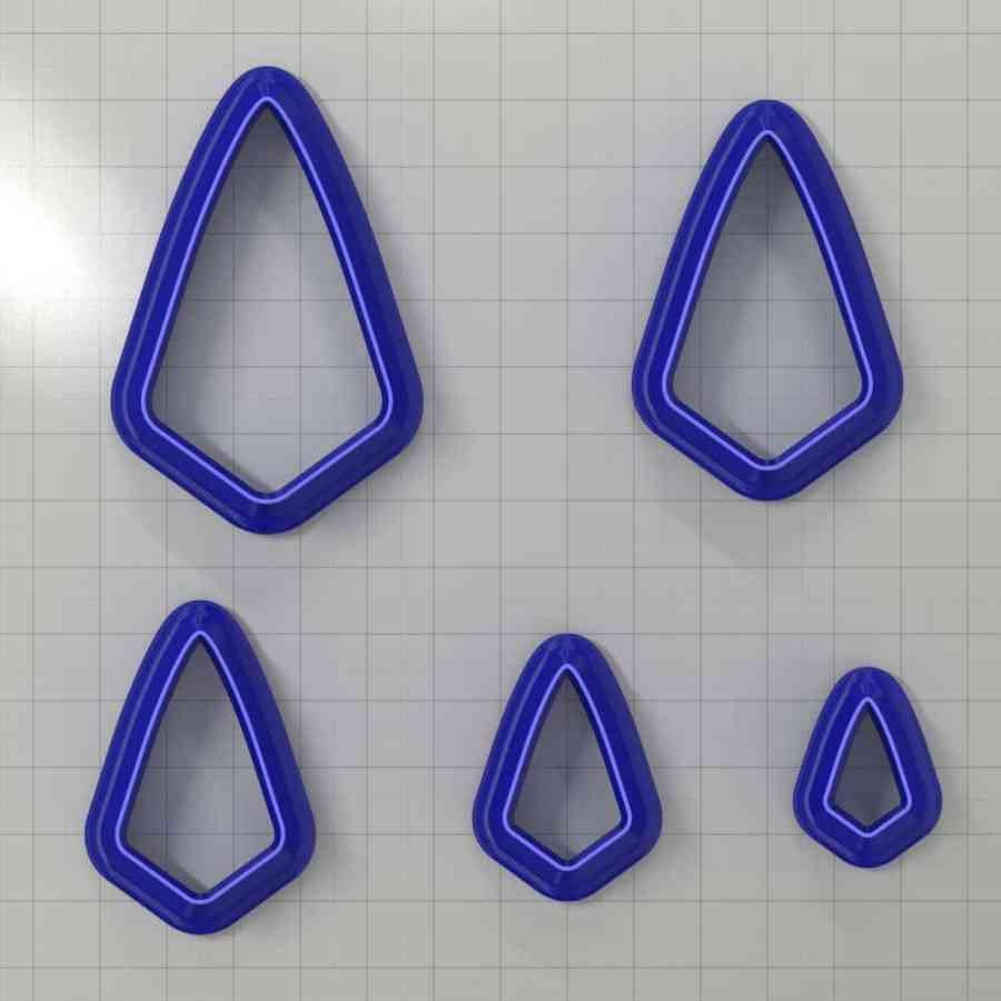 Set of 5 cutters: DROPS#7