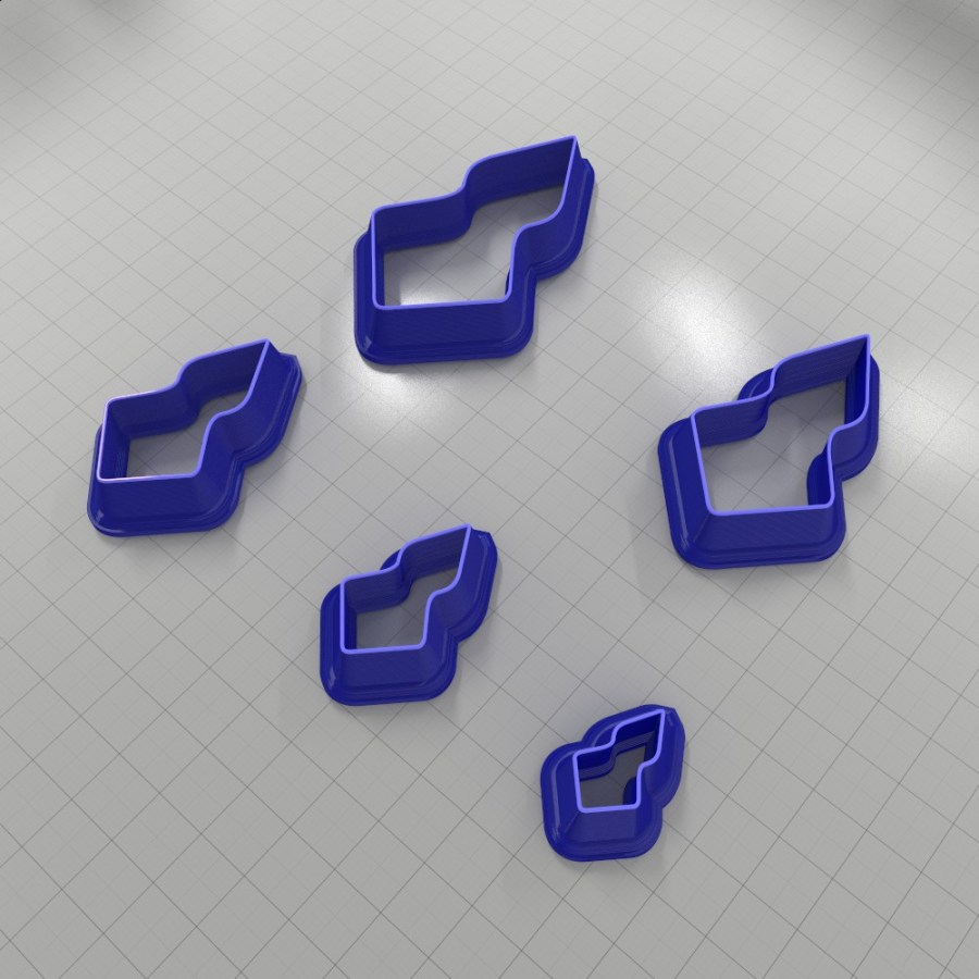 Set of 5 cutters: DROPS#14