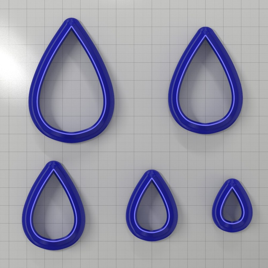 Set of 5 cutters: DROPS#15