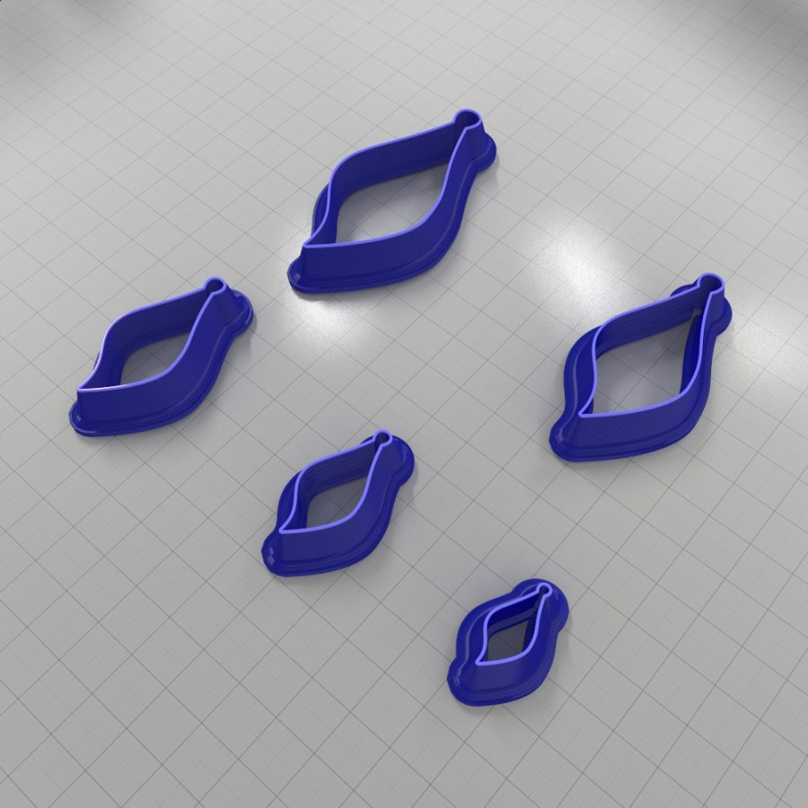 Set of 5 cutters: DROPS#22 Left