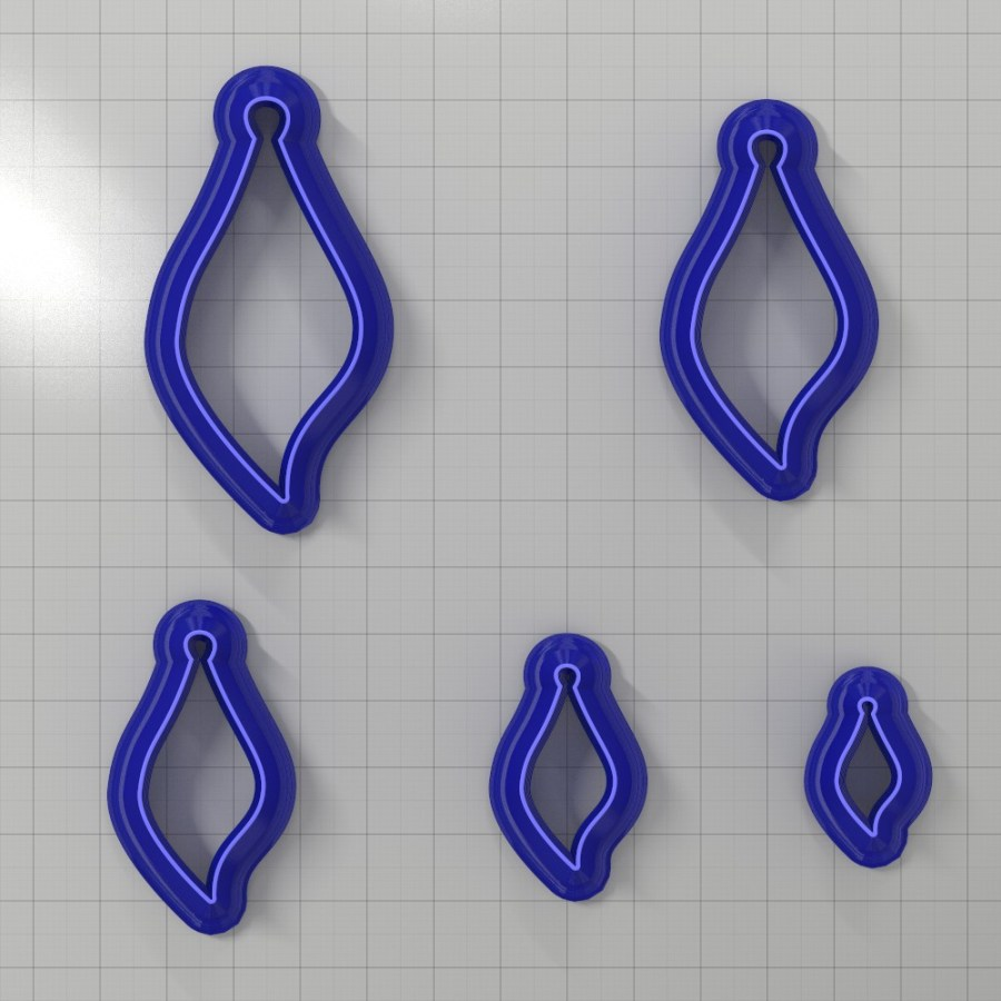 Set of 5 cutters: DROPS#22 Right