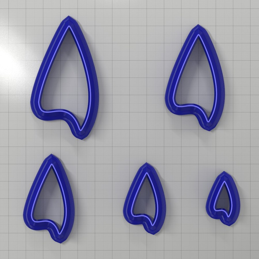 Set of 5 cutters: DROPS#25 Left