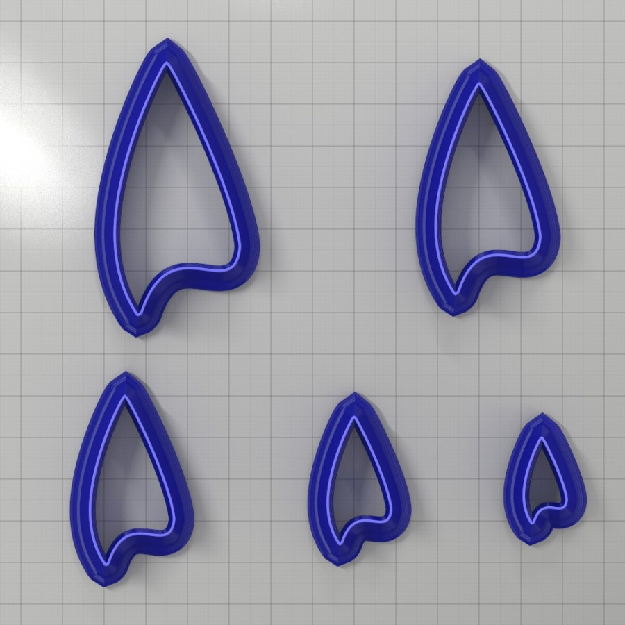 Set of 5 cutters: DROPS#25 Right