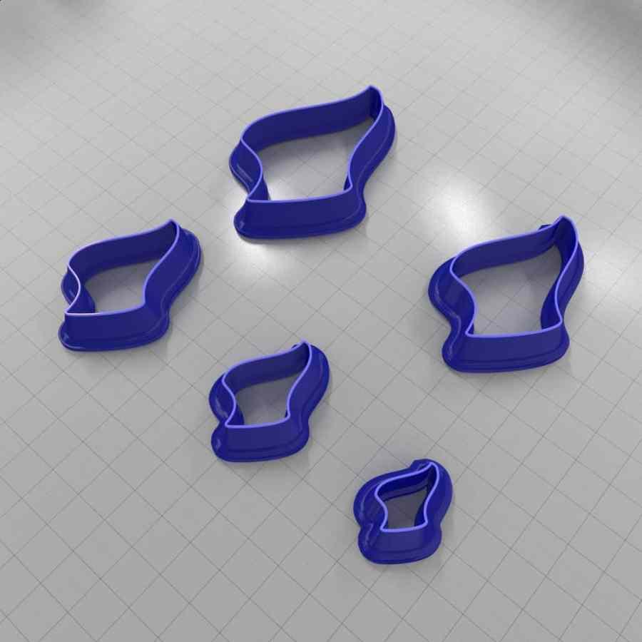 Set of 5 cutters: DROPS#28 Left