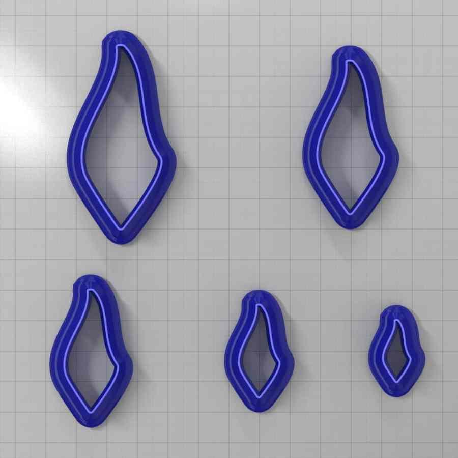 Set of 5 cutters: DROPS#29 Left