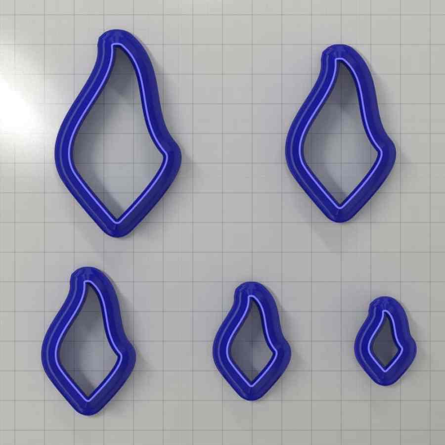 Set of 5 cutters: DROPS#30 Left