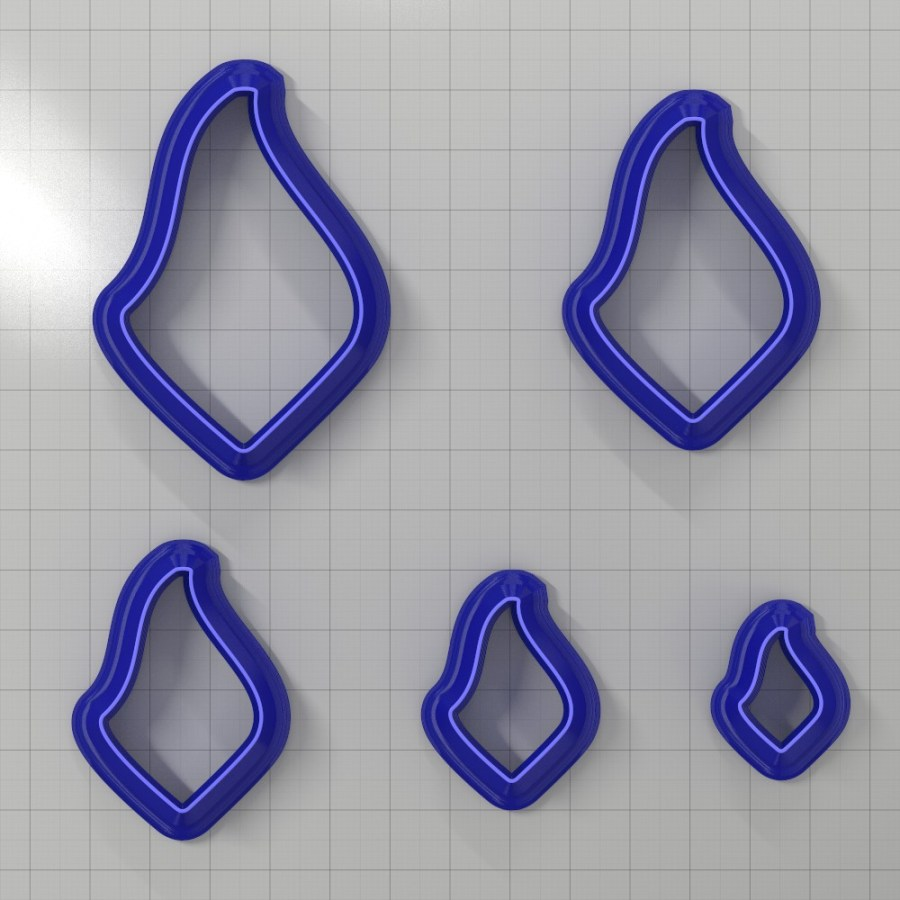 Set of 5 cutters: DROPS#31 Right