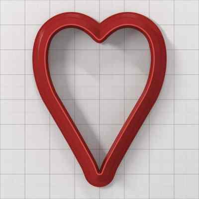 Set of 5 cutters: HEART#4