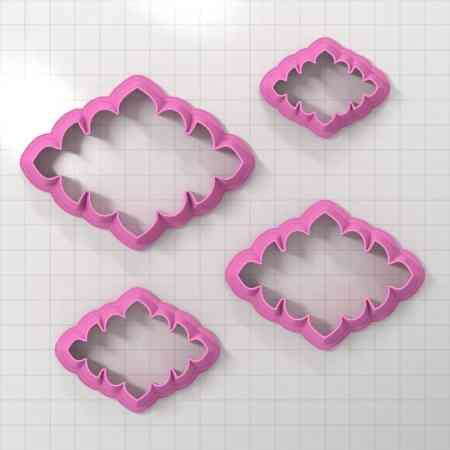 Set of 4 cutters – Focal Element #1 – 3,4,5,6cm