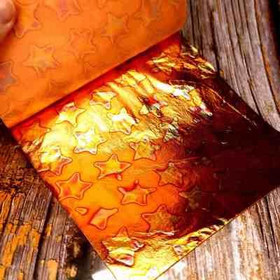 Copper Stars Metal Leafs