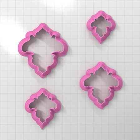 Set of 4 cutters – Focal Element #14 – 3,4,5,6cm