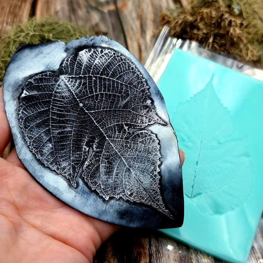 Detailed Leaf - Handmade texture-mold of real leaf