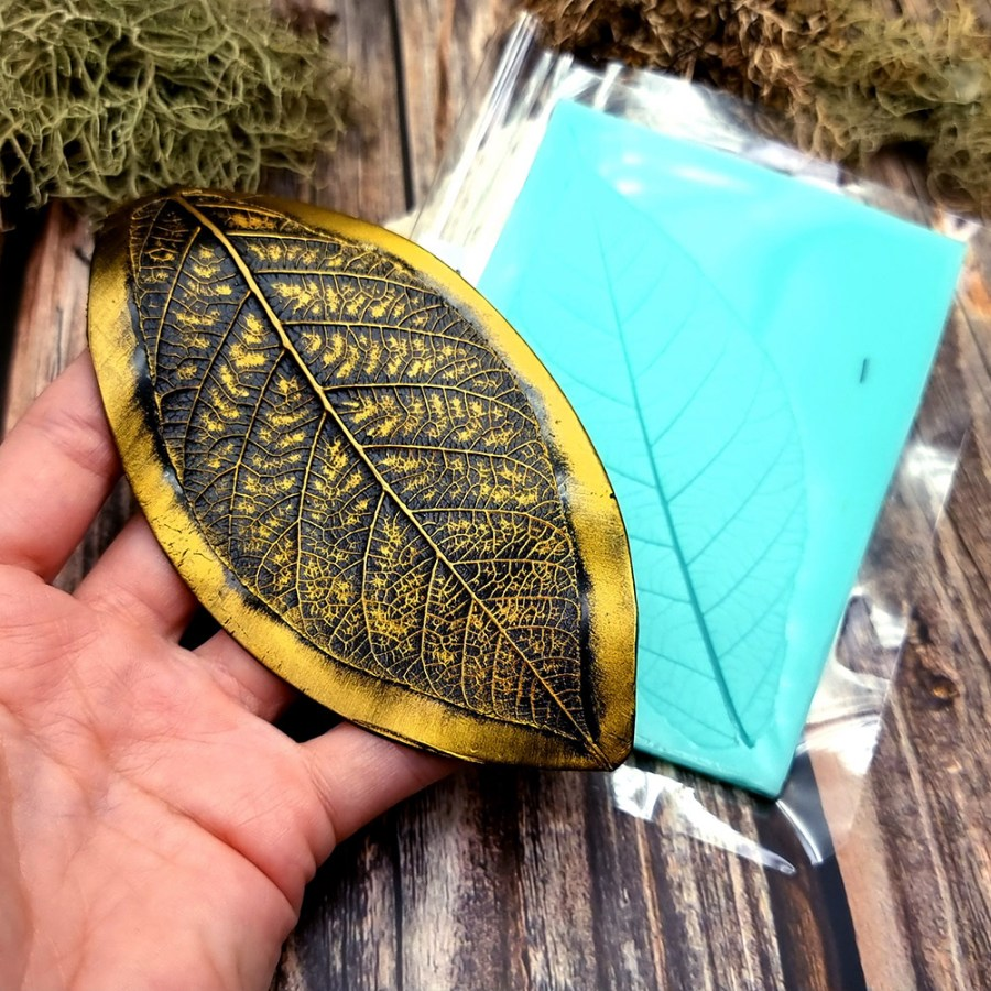 Tree Leaf - Handmade texture-mold of real leaf