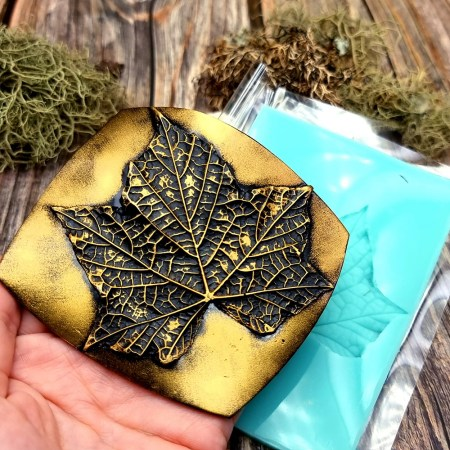Five fingers Leaf – Handmade texture-mold of real leaf