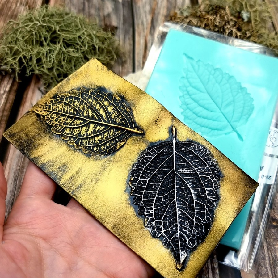 Perilla Blumei - Handmade texture-mold of real leaf