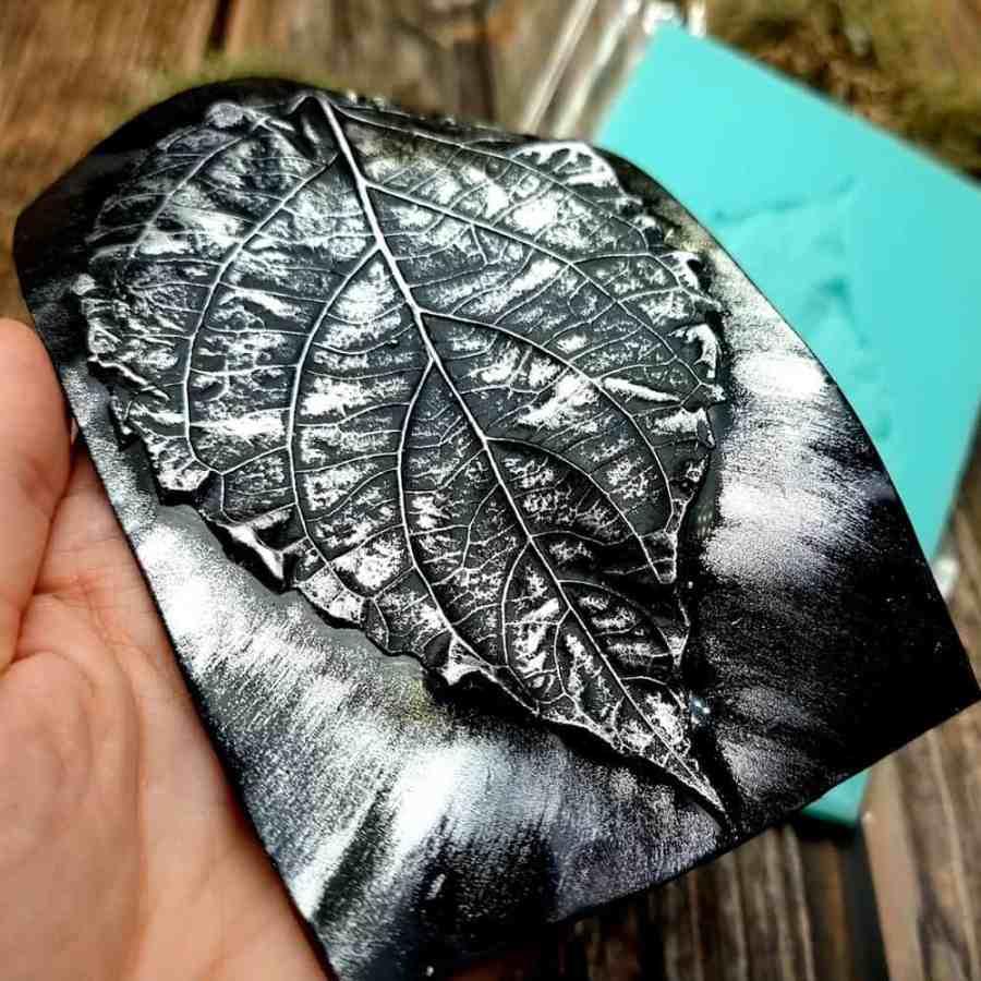 Large Leaf Pattern - Handmade real leaf texture-mold #2
