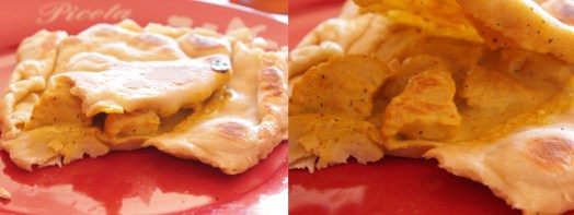 Naans poulet, ananas, curry
