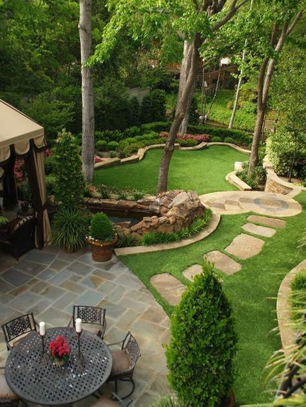 Beautiful Small Backyard Landscaping Ideas 19