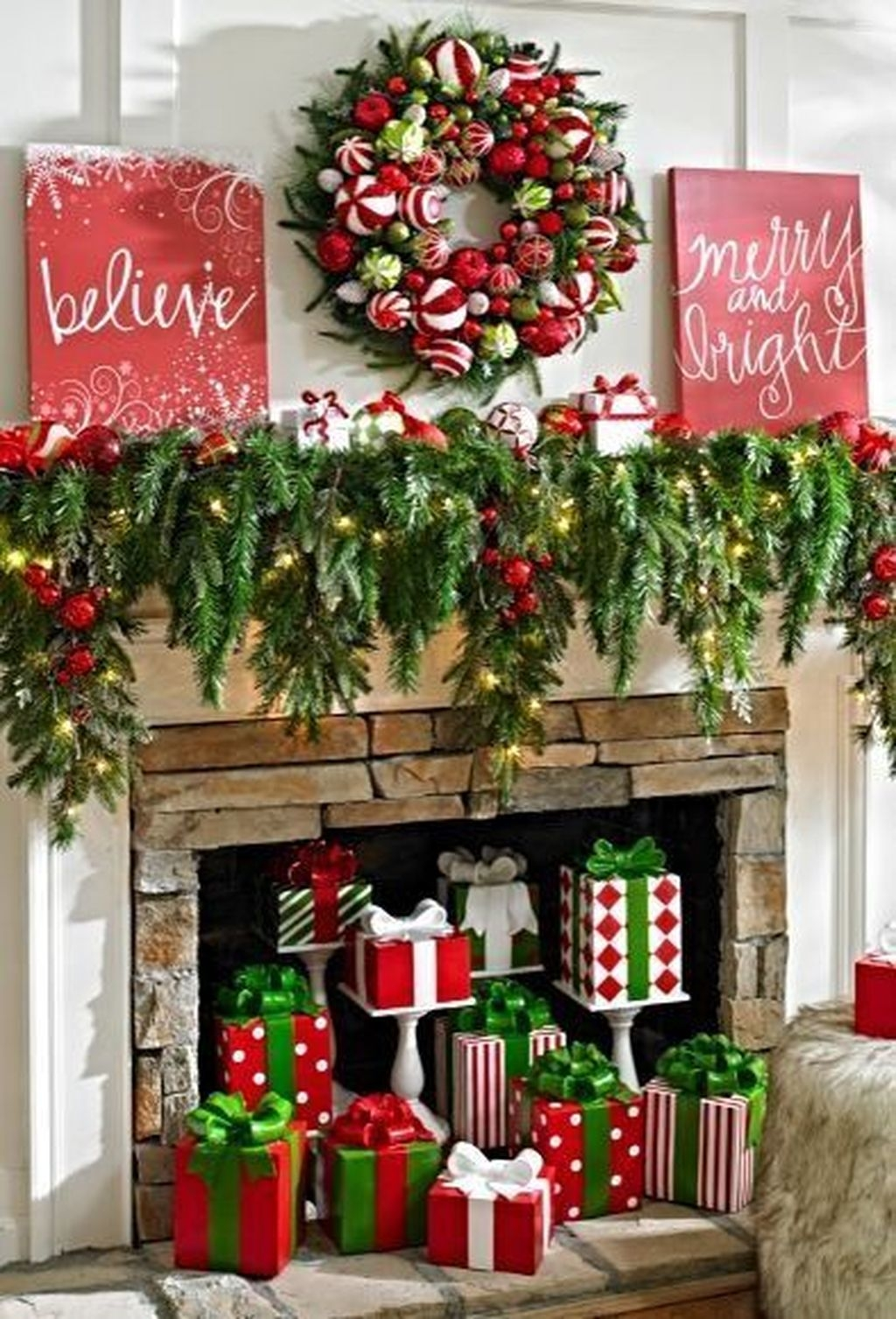 The Best Christmas Fireplace Decoration For Any Home Model 28