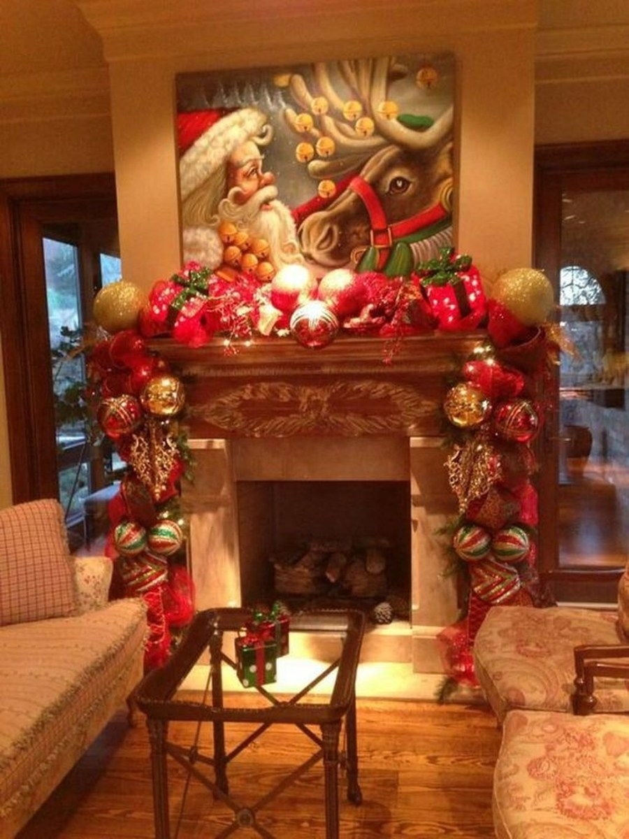 The Best Christmas Fireplace Decoration For Any Home Model 45