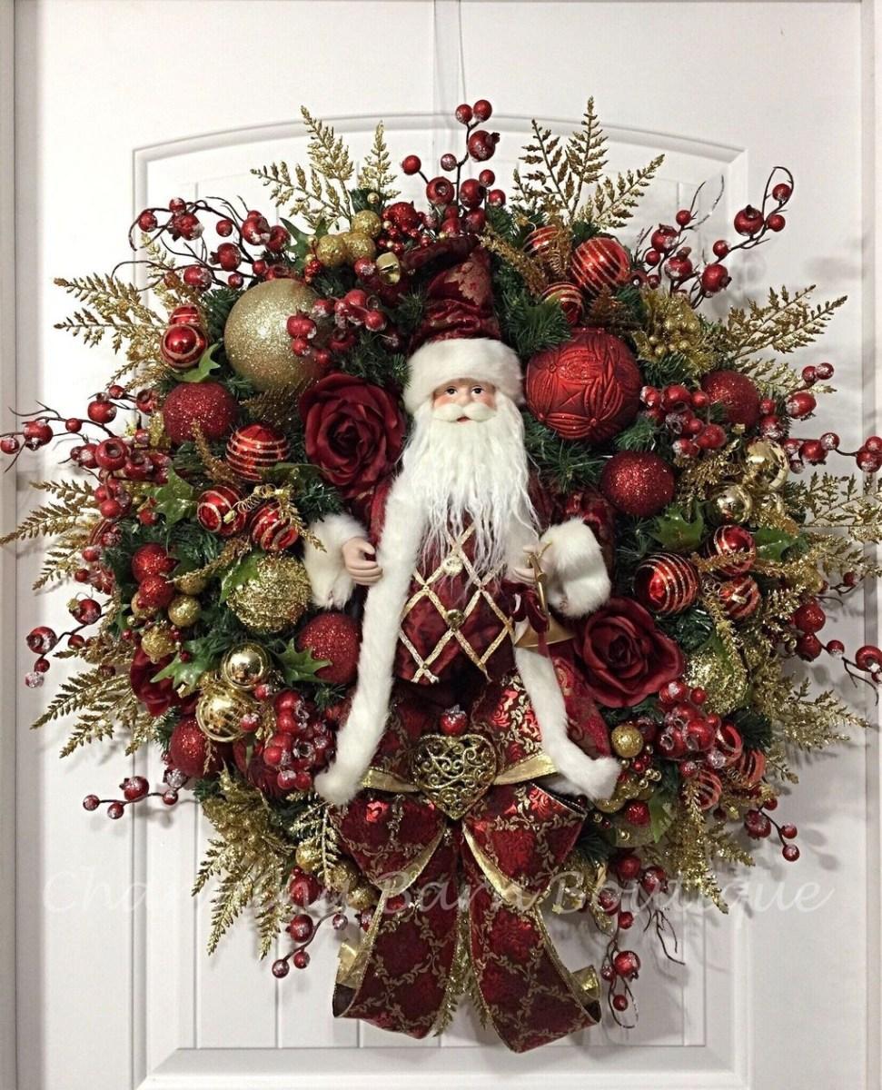 Popular Winter Front Door Decoration Ideas 13