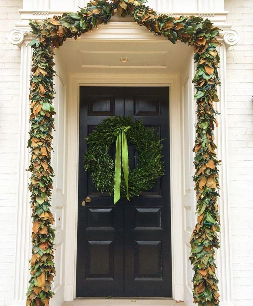 Popular Winter Front Door Decoration Ideas 47