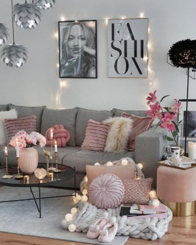 Stunning Romantic Living Room Decor 19