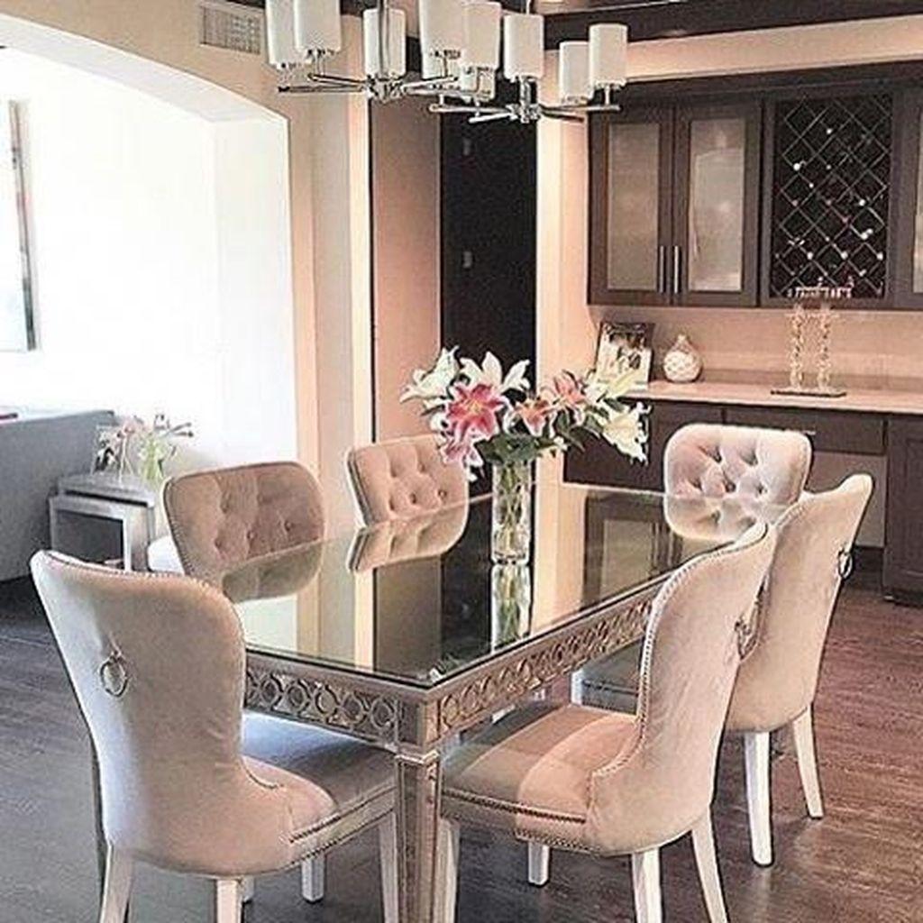 Sweet Romantic Dining Room Decor 19